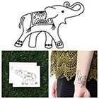 Tattify Rugged Elephant - Temporary Tattoo (Set of 2)
