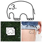 Tattify Chunky Elephant - Temporary Tattoo (Set of 2)