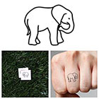 Tattify Tiny Elephant - Temporary Tattoo (Set of 2)