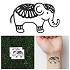 Tattify Cute Elephant - Temporary Tattoo (Set of 2)