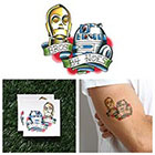 Tattify Star Wars - C3P0 + R2D2 - Temporary Tattoo (Set of 2)