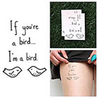 Tattify Take Note - Temporary Tattoo (Set of 2)