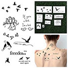Tattify Bird is the Word - Temporary Tattoo Pack (Set of 9)