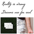 Tattify Denial - Temporary Tattoo (Set of 2)