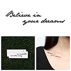 Tattify Mantra - Temporary Tattoo (Set of 2)