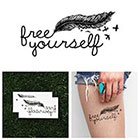 Tattify Escape Plan - Temporary Tattoo (Set of 2)