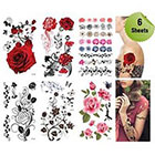Amazon.com Supperb Mix Flower Temporary Tattoos / 6-pack