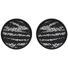 Journee Collection Zebra Ear Cheaters in Stainless Steel - Black