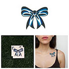 Tattify Blue Ribbon - Temporary Tattoo (Set of 2)