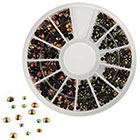 Amazon 300pcs 3D Nail Art Tips Black Gems Crystal Glitter Rhinestone DIY Decoration Kit With Wheel