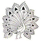 InknArt 2pcs Peacock - InknArt Temporary Tattoo - wrist tattoo body sticker fake tattoo quote wedding tiny tattoo