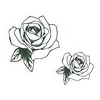 InknArt Valetines Day Gift 2pcs Vintage Rose illustration - InknArt Temporary Tattoo - wrist quote tattoo body sticker fake tattoo wedding tattoo