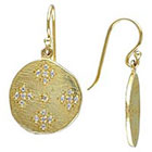 Allura 0.42 CT. T.W. Cubic Zirconia Charm Earrings in Yellow Rhodium Plated Sterling Silver