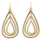 Target Teardrop Earrings with Stones - Gold