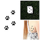 Tattify Paw Print Temporary Tattoo - On Track (Set of 2)