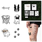 Tattify Doggy Style - Temporary Tattoo (Set of 12)