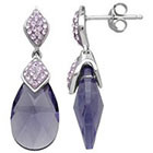 Target Sterling Silver Purple Briolette with Swarovski Elements Drop