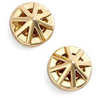 Rebecca Minkoff Caged Button Earrings in Gold