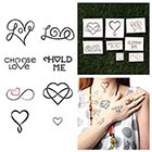 Tattify Heart Attack - Temporary Tattoo (Set of 16)