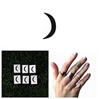Tattify Crescent - Temporary Tattoo (Set of 6) in