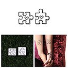 Tattify Puzzled - Temporary Tattoo (Set of 2)