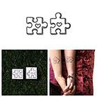 Tattify Puzzled - Temporary Tattoo (Set of 2)