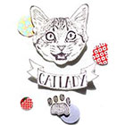 TheCatkinBoutique Cat Lady temporary tattoo