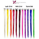 Amazon Beaute Galleria - Bundle 11 Pieces of 22 Inches Multi-Colors Party Highlights Clip In Synthetic Hair Extensions