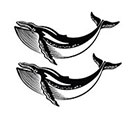 Stay At Home Gypsy Two small whales temporary tattoo set - all profits to sea shepherd conservation organisation