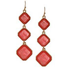Target Drop Earring with Stones - Gold/Pink