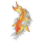 Tattoo You Asian Koi Fish Temporary Tattoo, Classic Style, Vintage Tattoo by Dean Sacred
