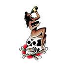 Tattoo You Temporary Pinup Skull Tattoo, Classic Tattoo, Vintage Tattoo, Traditional Tattoo by Paul Nycz