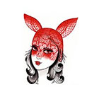 Tattoo You Rabbit Girl Temporary Tattoo, Cute Tattoo by Dusty Neal