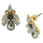Target Earrings with Marquis and Baguette Stones - Opal