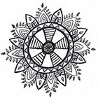 A Shine To It Boho Dreamcatcher Temporary Tattoo Hand Drawn Geometric Feather