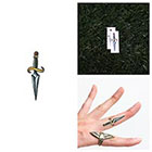 Tattify Sword Fight - Temporary Tattoo (Set of 2)