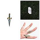 Tattify Sword Fight - Temporary Tattoo (Set of 2)