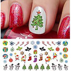 Amazon Christmas Holiday Assortment Water Slide Nail Art Decals Set #6- Salon Quality 5.5