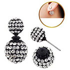 Target Zirconite Women's Zirconite Crystal Pave Peekaboo Earring - Black