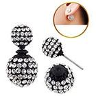 Target Zirconite Women's Zirconite Crystal Pave Peekaboo Earring - Black