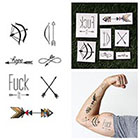 Tattify Bullseye - Temporary Tattoo (Set of 14)