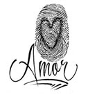 Tattoo You Small Amor Fingerprint Temporary Tattoo, Typographic Tattoo Style, by BJ Betts