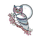 Tattoo You Small Owl Temporary Tattoo