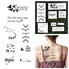 Tattify Fowl Play - Temporary Tattoo (Set of 16)