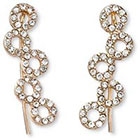 Natasha Accessories Imitation Ear Crawler with Crystal - Gold (1