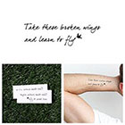 Tattify Blackbird - Temporary Tattoo (Set of 2)