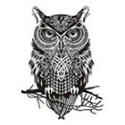 InknArt Owl tattoo wisdom soul - InknArt Temporary Tattoo - wrist quote tattoo body sticker fake tattoo wedding tattoo small tattoo