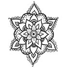 A Shine To It Henna Style Temporary Tattoo Floral Geometric Mandala Hand Drawn