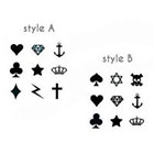 InknArt 9pcs Set Small Tiny Finger Heart Anchor DIamond Tattoo - InknArt Temporary Tattoo - pack tattoo collection quote wrist