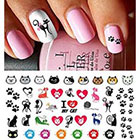 Amazon I Love My Cat Kitten Paw Prints Water Slide Nail Art Decals- Salon Quality 5.5